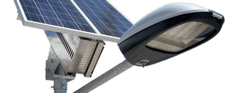 iluminacion solar con paneles solares
